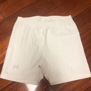 Under Armour White Spandex Shorts